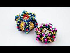 Bead Jewellery, Beaded Jewelry, Beaded Bead, Beaded Boxes, Bracelet Crafts, Beads And Wire, Beading Tutorials, Seed Beads, Projects To Try