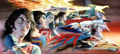 Battle of the Planets / G-Force / Gatchaman   I love Alex Ross' Gatchaman artwork, this is my all time favourite one of his.
