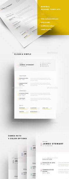 A4 Minimalist Resume Template PSD #design Download: http://graphicriver.net/item/a4-minimalist-resume/14419027?ref=ksioks