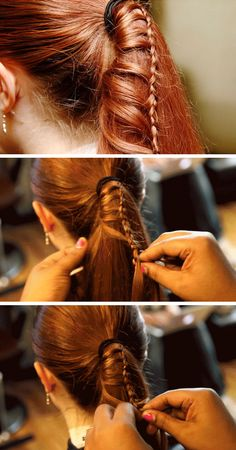 Hair Styles For School Ladder Braid No Heat Hairstyles, Easy Hairstyles For Long Hair, Teen Hairstyles, Hairstyle Ideas, Stylish Hairstyles, Hairstyle Tutorials, Hair Ideas, Back To School Hairstyles For Teens, Overnight Hairstyles