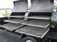 The best value high capacity reverse-flow tank smoker available. Easily barbecue for the largest crowds with a Get your FREE custom quote now. Bbq Smoker Trailer, Bbq Pit Smoker, Trailer Smokers, Rotisserie Cooker, Slow Cooker Bbq, Bbq Rotisserie, Bbq Pork, Barbecue Grill, Grilling