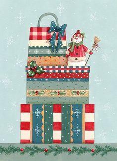 Helz Cuppleditch-xmas presents Christmas Clipart, Christmas Gift Tags, Christmas Images, Christmas Printables, Christmas Snowman, Winter Christmas, Christmas Cards, Christmas Trees, Illustration Noel