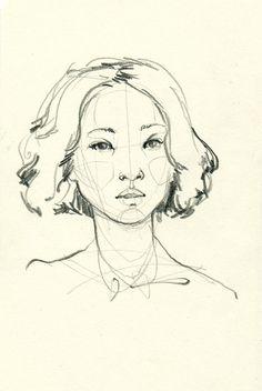Adara Sánchez Anguiano. Quick sketch, 2014.