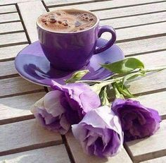 Purple passion, please, with your finest tea.