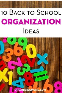 Ways to focus and get organized for the back to school season. organization ideas #organization #organized