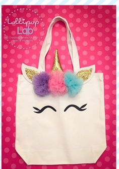 Medium Unicorn tote Tote Unicorn Birthday gift Unicorn
