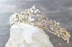 Bridal Tiara Swarovski Crystal Tiara - SELINA Swarovski Bridal Tiara, Crystal Wedding Crown, Rhinestone Tiara, Wedding Tiara, Diamante Crown by EdenLuxeBridal on Etsy