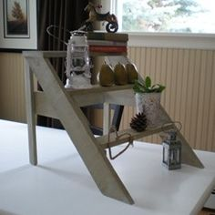 #DIY mini-ladder - perfect for plants!  @Looksi Square  #designdreambyanne
