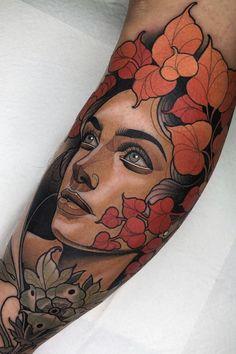 Neo Traditional Art, Traditional Tattoo Design, Traditional Tattoos, American Traditional, Neo Tattoo, Tattoo Motive, Tattoo Flash, Tattoo Ink, Body Art Tattoos