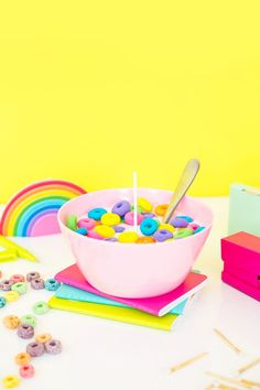 DIY Cereal Bowl Cand