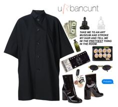 """""""09:42🕷"""" by urbancunt ❤ liked on Polyvore featuring Yohji Yamamoto, Maison Margiela, Gianfranco Ferré and Lalique"""