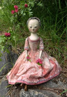 "pretty reproduction of a 1740 english doll 10"" ~ by the old pretenders"