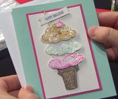 Stampin ' Up - Sprinkles of Life stamp set, ice creams