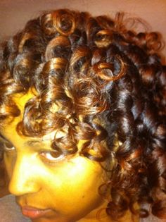 Curlformers set on natural 4a hair. To learn how to grow your hair longer click here - http://blackhair.cc/1jSY2ux