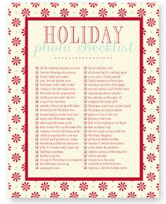 simple as that: Capturing Real Life: Printable Photo Checklists