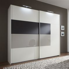 Cairo Sliding Wardrobe,Alpine Wood With Sahara Grey Glass Insert Dimensions: The overall dimensions of the Wardrobe x Closet Designs, Door Furniture, Bedroom Furniture Design, Modern Bedroom Design, Bedroom Closet Design, Bedroom Cupboard Designs, Cupboard Design, Sliding Door Wardrobe Designs, Wardrobe Door Designs