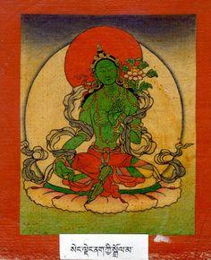 Green Tara, Tibetan Art, Buddhism, Inspirational, Yoga, Painting, Image, Woman, Painting Art