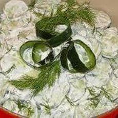 Garden Cucumber Salad Recipe With Tuna And Sweet Basil Recipe ...