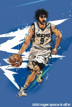 Ricky Rubio 'All In' Art