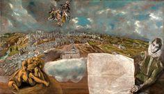 El Greco, La Vue et plan de Tolède Musée du Greco, Tolède Centenario, Oeuvre D'art, Postage Stamps, Les Oeuvres, Spanish, Painting, Collections, Reign Bash, El Greco
