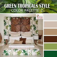 Green tropical style color palette 2