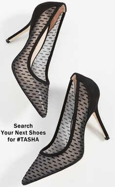 Featuring a black mesh upper with velvet accents and a stiletto heel, these Stuart Weitzman pumps are a sophisticated pair you can always count on for dressed-up looks. High End Shoes, High Heels, Highland Boots, Stiletto Heels, Bow Heels, Next Shoes, Popular Shoes, Comfy Shoes, Dress Shoes
