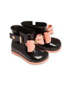 Mini Melissa sugar bow rain boots
