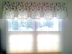 "This valance is over a ""top-down / bottom-up"" cellular shade. (Ever want to have a shade on a window but wich you could see out thru the top of the window? Windows, Window Styles, Wall, Home Decor, Curtains, Blinds For Windows, Custom Drapery, Drapery Fabric, Valance"