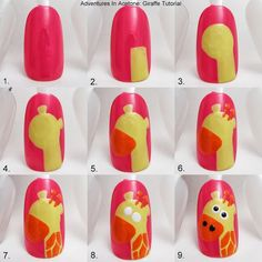 Tutorial Tuesday: Giraffe Nail Art!