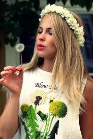 blomsterkrans hår