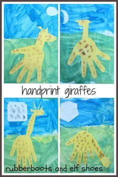 rubberboots and elf shoes: Giraffes Can't Dance handprint giraffe Sensory Activities, Learning Activities, Activities For Kids, Teaching Ideas, Preschool Ideas, Craft Ideas, Circus Crafts, Jungle Crafts, Gerald The Giraffe