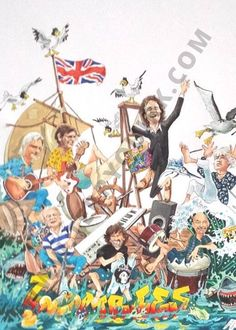 The Zombies at sea is depicted by Terry Quirk in the British Invasion. Museum Quality Prints: x Ships flat in a protective sleeve with cardboard support. British Invasion, Museum, Prints, Painting, Art, Art Background, Painting Art, Kunst, Paintings