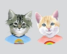 Etsy の Kittens art print 11x14 by berkleyillustration