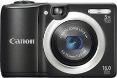 Canon PowerShot A1400 Black 16MP Digital Camera with 5X Optical Zoom