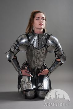 Fantasy Stainless Full Women's Lady-Warrior Armor Set for sale :: by medieval store ArmStreet