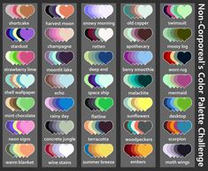 Made my own color palette challenge! Send me(or the person who rbs this) a character(or characters) and a palette! Skin Color Palette, Palette Art, Drawing Challenge, Art Challenge, Colour Schemes, Color Combos, Color Palette Challenge, Art Prompts, Color Swatches