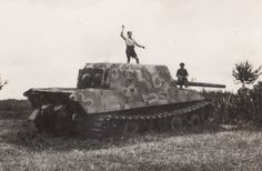 This abandoned Jagdtiger is no more than a curiosity for the locals.
