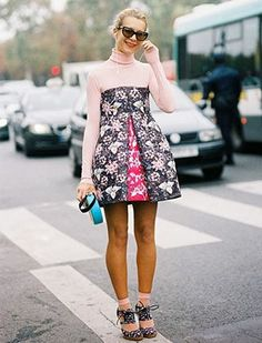 20 Terrific Ways To Style A Turtleneck: Make your pretty strapless cocktail dresses work for
