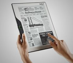 Flexible ereader. Skiff = cool