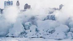 Frozen Niagara Falls offers spectacular view   CTV News