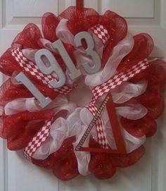 Delta sorority wreath by DecorableByBeverlee on Etsy, $60.00