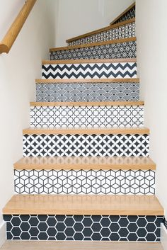 Agence 19 DEGRES - Beautiful tiling stairs