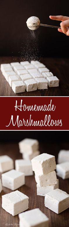 homemade marshmallows are easy to make and they taste amazing, plus a video kitchen tip on how to easily cut them into even squares