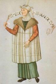 "San Juan de Luz. ""Habits de femmes de diverses countres"" Bibliotheque Nationale de Paris. early 16th c."