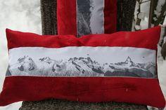 coussin montagne rectangulaire esprit chalet : Textiles et tapis par couturedeaudile