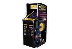 """Pac Man Arcade Machine.  If you love a classic arcade game, you'll flip for Pac-Man's Arcade Party Cabaret. This upright model comes packed with 13 classic arcade games. They're just like you'd find in your favorite arcade, with upgraded 19"""" diagonal LCD, authentic arcade controls and commercial grade construction. Relive the genuine classic arcade game experience in your own home."""
