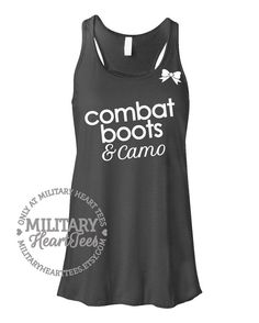 Combat Boots and Camo Racerback Tank Top by MilitaryHeartTees, $27.00