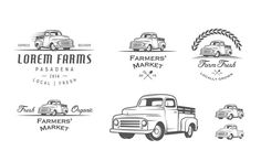 Check out Vintage farmer truck logos by 1baranov on Creative Market