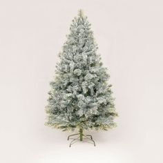 7ft/210cm Snowy Mountain Pine Flocked Artificial Christmas Tree Flocked Artificial Christmas Trees, Fake Trees, Snowy Mountains, Flocking, Pine, Seasons, Holiday Decor, Flowers, Plants