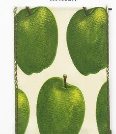 2.5 Green Apples Wired Ribbon 25 yards  by CustomWreathDecor